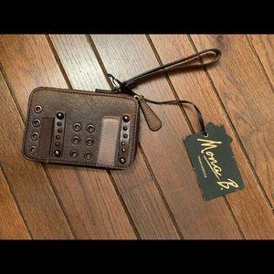 Mona B Leather Wristlet
